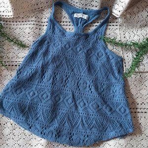 *3 FOR $30* Abercrombie Kids Blue BOHO Top